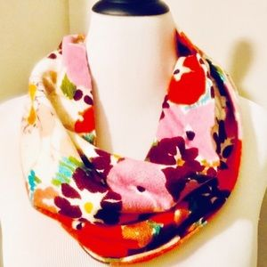 Anthropologie's Madison 88 Floral Infinity Scarf